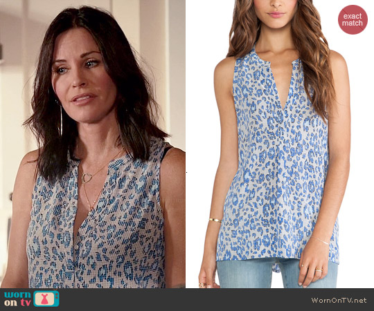 Joie Aruna Blouse worn by Courtney Cox on Cougar Town