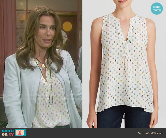 Joie 'Aruna' Mini Bug Print Top worn by Kristian Alfonso on Days of our Lives