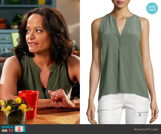 Joie Aruna Top in Cypress worn by Judy Reyes on Devious Maids