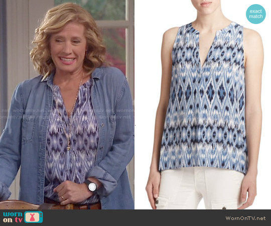 Joie Aruna Ikat Tank worn by Nancy Travis on Last Man Standing