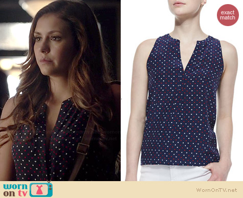 Joie Aruna Tank worn by Nina Dobrev on The Vampire Diaries