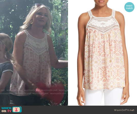 Joie Bayard Top worn by Sharon Case on The Young & the Restless