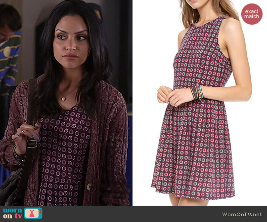 Joie Bernadine Dress in Shiraz worn by Bianca Santos on Happyland