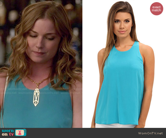 Joie Brighton B Tank in Peacock worn by Emily VanCamp on Revenge