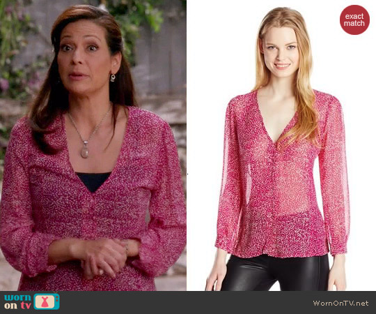 Joie Calvina Blouse worn by Constance Marie on Switched at Birth