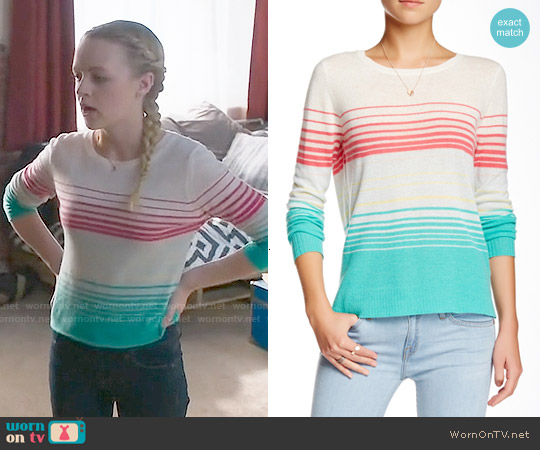 Joie Cashmere Striped Sweater worn by Anna Jacoby-Heron on Finding Carter
