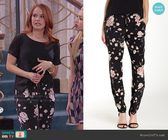Joie Cinda Silk Pants worn by Debby Ryan on Jessie