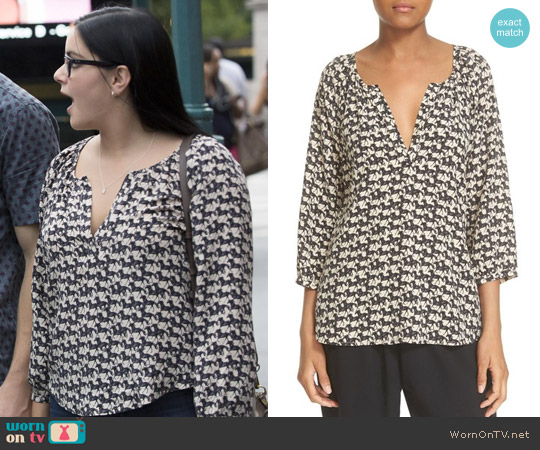 Joie Coralee Horse Print Blouse worn by Ariel Winter on Modern Family