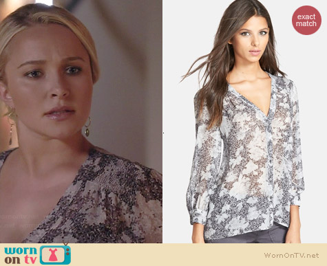 Joie Cordia Blouse in Caviar worn by Hayden Panettierre on Nashville