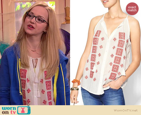 Joie Danelle Top worn by Dove Cameron on Liv & Maddie