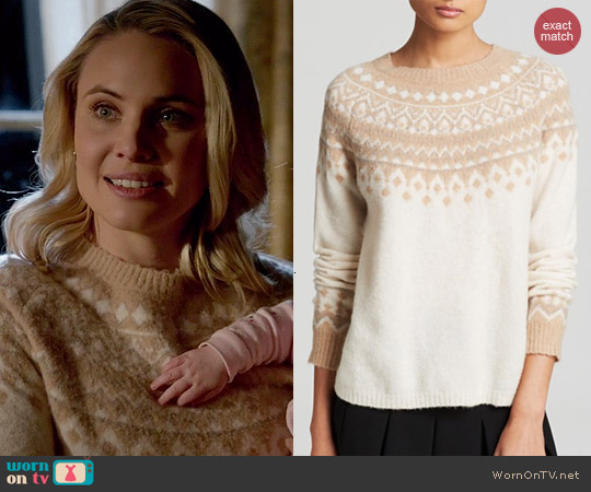 Joie Deedra Fair Isle Sweater worn by Leah Pipes on The Originals