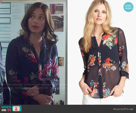 Joie Devitri Silk Shirt worn by Kristin Kreuk on Beauty & the Beast