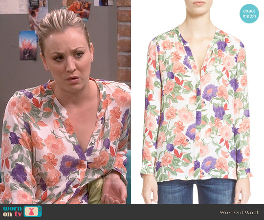 Joie Devitri Blouse worn by Kaley Cuoco on The Big Bang Theory