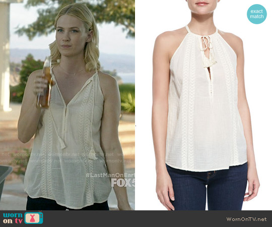 Joie Eniko Top worn by January Jones on Last Man On Earth