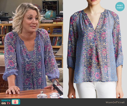 Joie Gloria Blouse worn by Kaley Cuoco on The Big Bang Theory