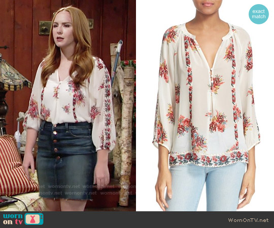 Joie Gloria Top worn by Camryn Grimes on The Young & the Restless