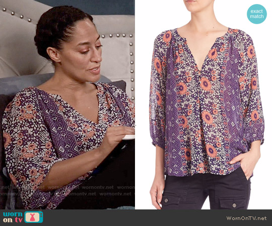 Joie Gloria Blouse in Dahlia worn by Tracee Ellis Ross on Blackish