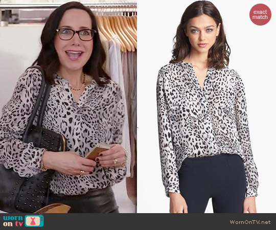 Joie Gudelia Blouse worn by Janeane Garofalo on GG2D