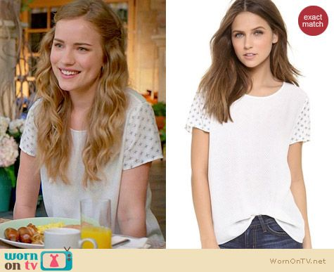 Joie Hanneli Top worn by Willa Fitzgerald on Royal Pains