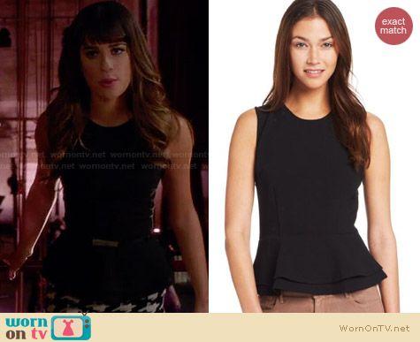 Joie Helice Peplum Top worn by Lea Michele on Glee