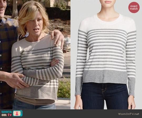 Joie Herminia Striped Sweater in Grey worn by Julie Bowen on Modern Family