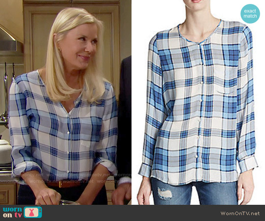 Joie Kariana Blouse worn by Katherine Kelly Lang on The Bold & the Beautiful