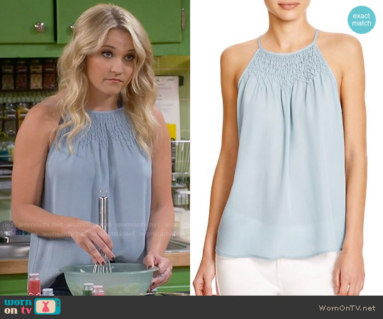 Joie Kealy Top in Fog worn by Emily Osment on Young & Hungry