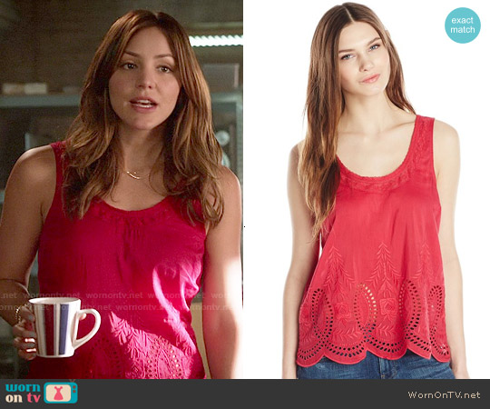 Joie Lille Top in Watermelon worn by Katharine McPhee on Scorpion