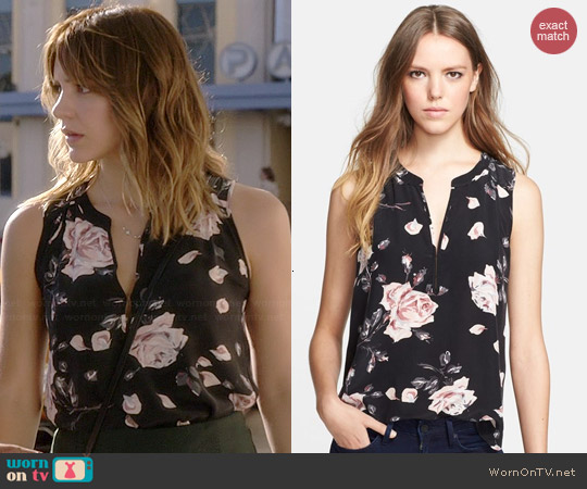 Joie Lirienne Blouse worn by Katharine McPhee on Scorpion