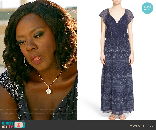 Joie Manalia Maxi Dress worn by Viola Davis on HTGAWM