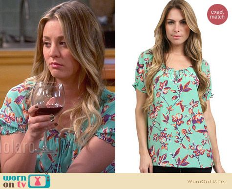 Joie Masha Top in Julep worn by Kaley Cuoco on The Big Bang Theory