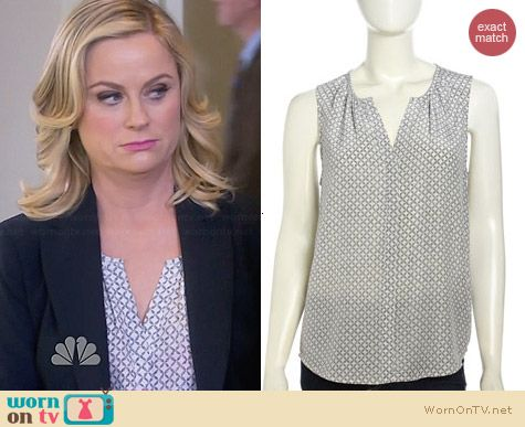 Joie Melisana Cherry Blossom Blouse worn by Amy Poehler on Parks & Rec
