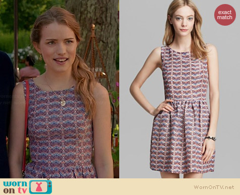 Joie Meriel Dress in Deep Lapis worn by Willa Fitzgerald on Royal Pains
