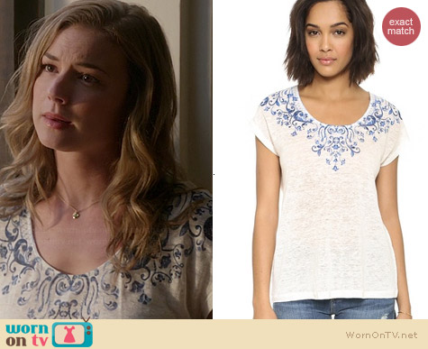 Joie Nasa B Tee worn by Emily VanCamp on Revenge
