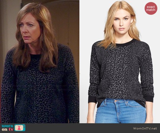 Joie Nigella Leopard Sweater worn by Allison Janney on Mom