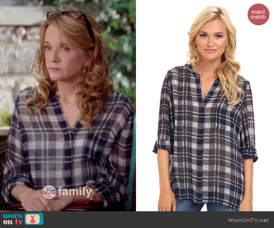 Joie Nura Plaid Blouse worn by Lea Thompson on Switched at Birth