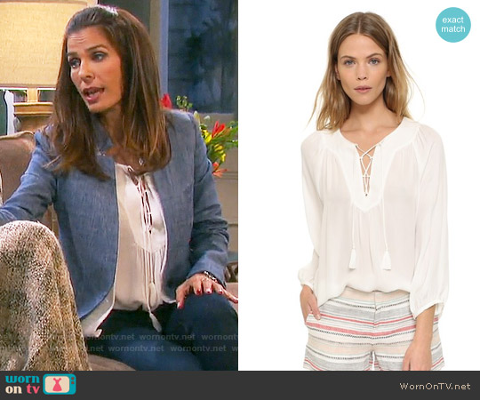 Joie Pacaya Blouse worn by Kristian Alfonso on Days of our Lives