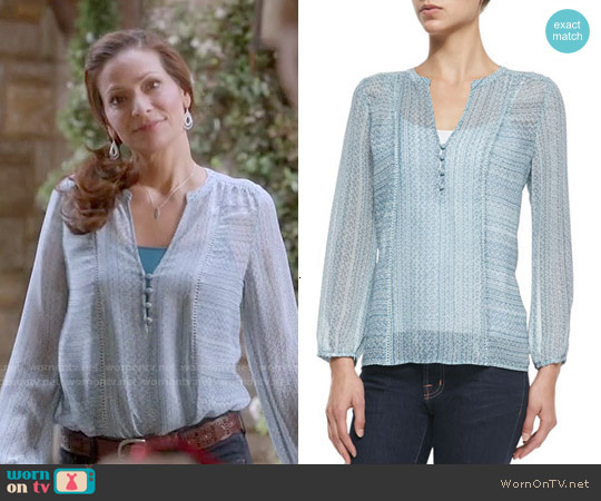 Joie Parmena Blouse worn by Constance Marie on Switched at Birth