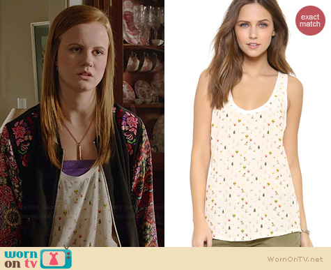 Joie Rain Bug Print Blouse worn by Mackenzie Lintz on Under the Dome