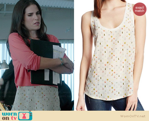 Joie Rain Tank in New Moon worn by Karla Souza on HTGAWM