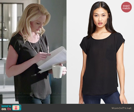 Joie Rancher Top in Black worn by Katherine Heigl on State of Affairs