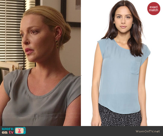 Joie Rancher Top in Robins Egg worn by Katherine Heigl on State of Affairs