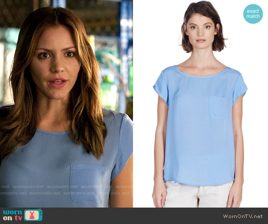 Joie Rancher Top in Sunset Blue worn by Katharine McPhee on Scorpion