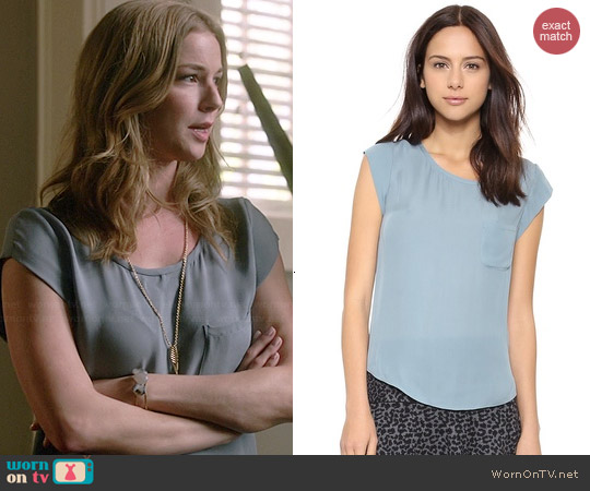 Joie Rancher Top in Robins Egg worn by Emily VanCamp on Revenge
