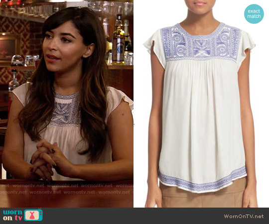 Joie Rankin Top worn by Hannah Simone on New Girl