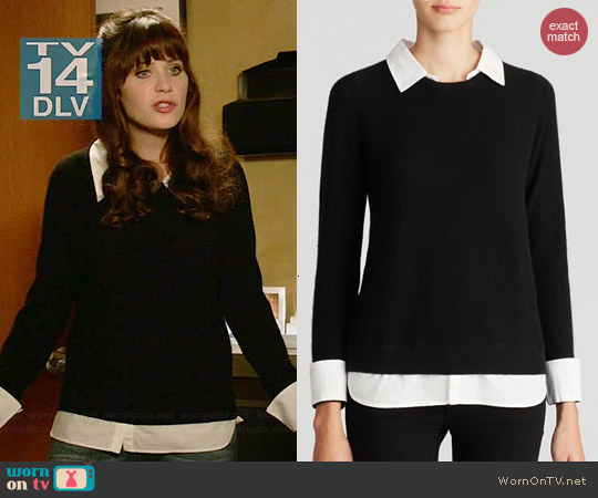 Joie Rika Sweater worn by Zooey Deschanel on New Girl