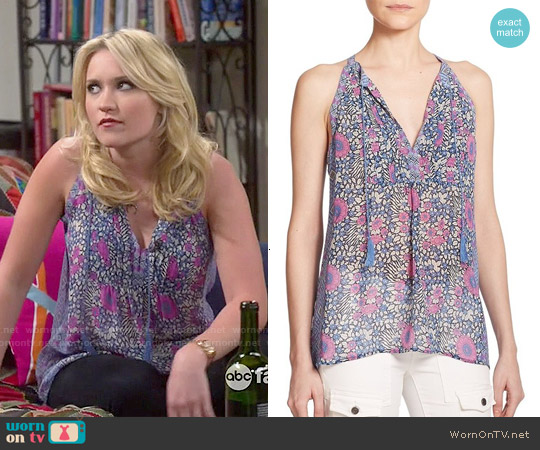 Joie Shara Top worn by Emily Osment on Young & Hungry