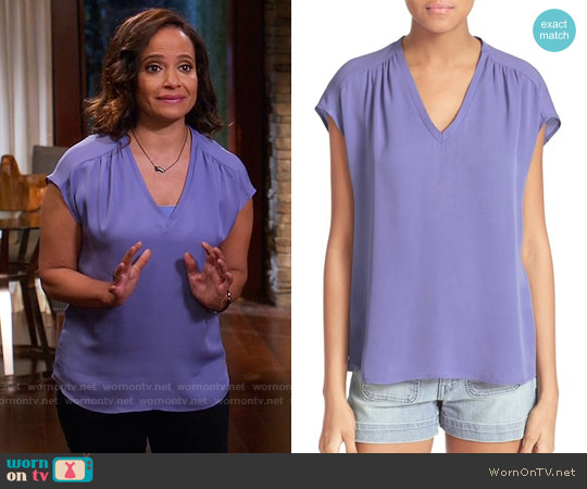 Joie Suela Top worn by Judy Reyes on Devious Maids