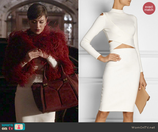 Jonathan Simkhai Cutout Stretch Knit Turtleneck Top and Skirt worn by Grace Gealey on Empire