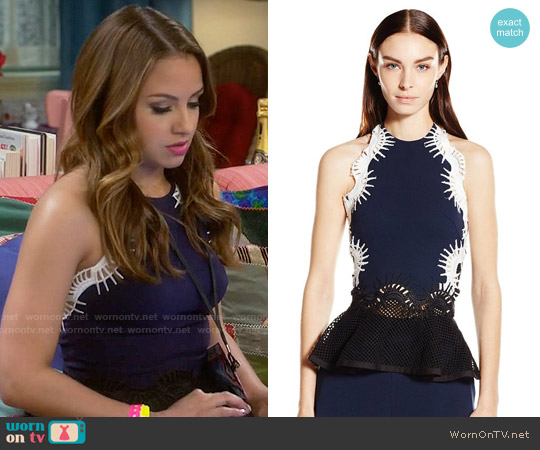Jonathan Simkhai Tower Mesh Halter Top worn by Aimee Carrero on Young & Hungry
